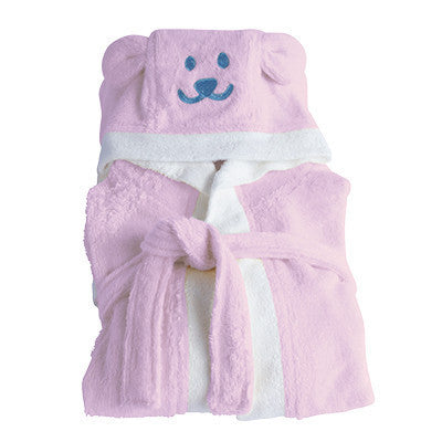 ORGANIC BAMBOO Hooded Toddler Bathrobe - pink