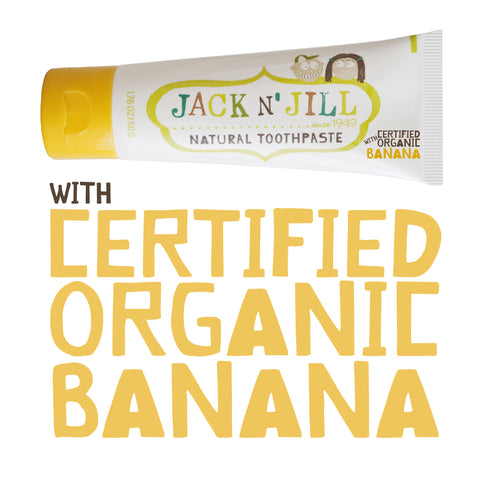 JACK N JILL Natural Tooth Paste - Banana