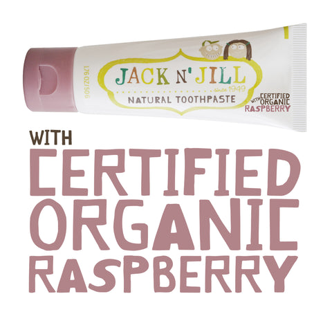 JACK N JILL Natural Tooth Paste - Raspberry