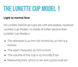 LUNETTE Reusable Menstrual Cup Model 1 - Yellow