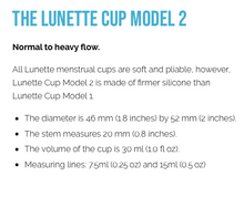 Load image into Gallery viewer, LUNETTE Reusable Menstrual Cup Model 2 - Clear