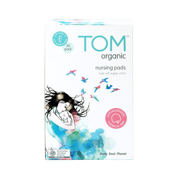TOM ORGANIC - Nursing Pads x 30 - BUY 5 GET 1 FREE