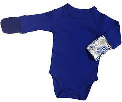 BAMBOO BUBBY Scratch Me Not Body Suit - Blue