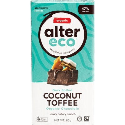 ALTER ECO Chocolate Dark Salted Coconut Toffee