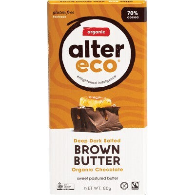 ALTER ECO Chocolate Deep Dark Salted Brown Butter