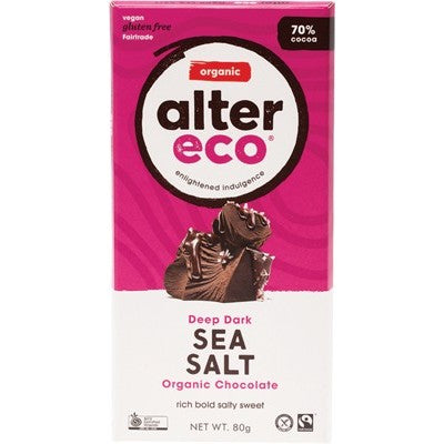 ALTER ECO Chocolate Deep Dark Sea Salt