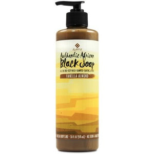 ALAFFIA Black Soap Vanilla Almond - 476ml