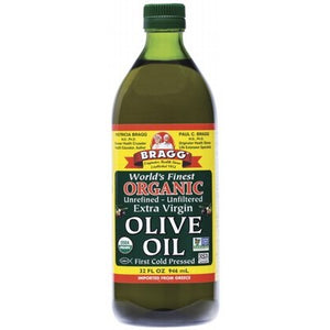 BRAGG Olive Oil (Extra Virgin) Unrefined & Unfiltered 946ml