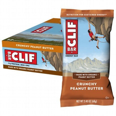 CLIF BAR Crunchy Peanut Butter - 12x68g (box only)