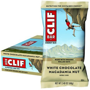 CLIF BAR White Choc Macadamia - 12x68g (box only)