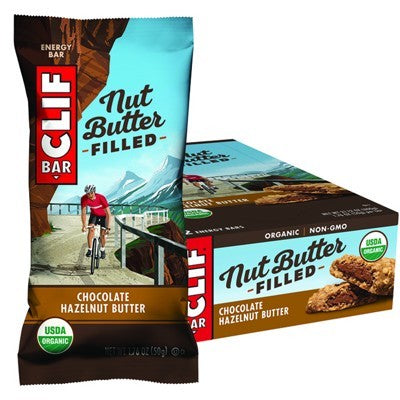 CLIF NUT BUTTER FILLED BAR Chocolate Hazelnut Butter - 12x50g (box only)