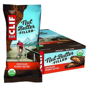 CLIF NUT BUTTER FILLED BAR Chocolate Peanut Butter - 12x50g (box only)