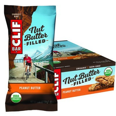 CLIF NUT BUTTER FILLED BAR Peanut Butter - 12x50g (box only)