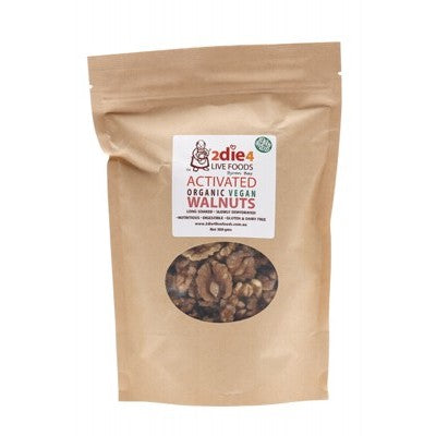 2DIE4 LIVE FOODS Activated Organic Vegan Walnuts - 300g