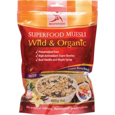 DR SUPERFOODS Superfood Muesli Super Berry Munch - Toasted 500g