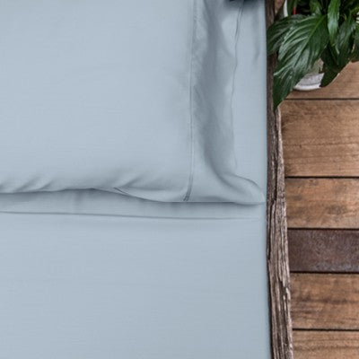 Organic Bamboo Bed Sheet Set - Ice Blue