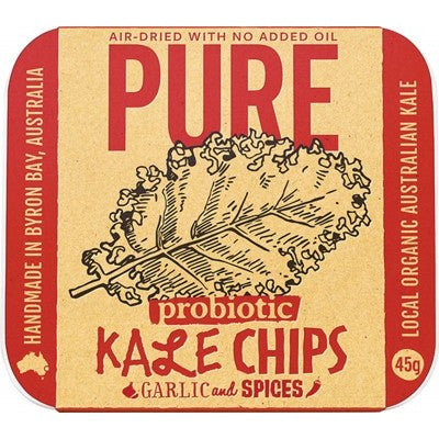 EXTRAORDINARY FOODS Kale Chips Garlic & Spices 45g