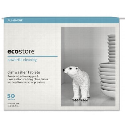 ECOSTORE Auto Dishwash Tablets Fragrance Free - 50 tabs