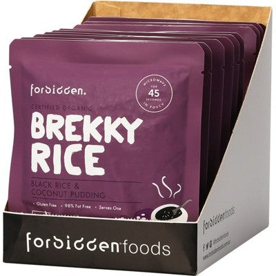 FORBIDDEN Brekky Rice - Black Rice & Coconut Pudding 10 x 125g (box only)