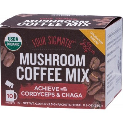FOUR SIGMATIC Mushroom Coffee Mix Cordyceps & Chaga -10x2.5g