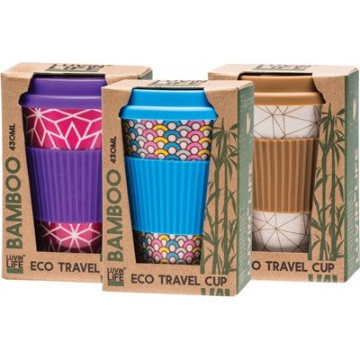 LUVIN LIFE Bamboo Travel Cup 430ml (Surprise Design)