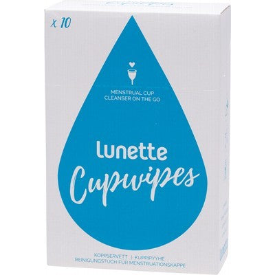 LUNETTE Cupwipe Disinfecting Wipes 10