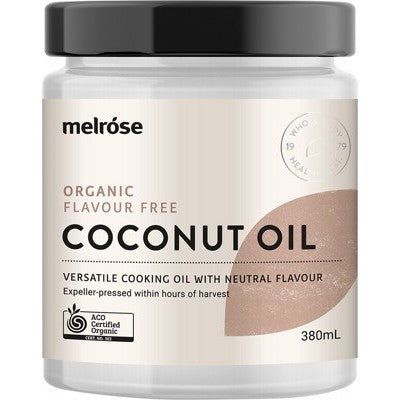 MELROSE Organic Flavour Free Coconut Oil - 380ml