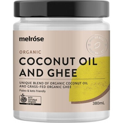 MELROSE Grass Fed Ghee & Coconut Blend Organic 380ml