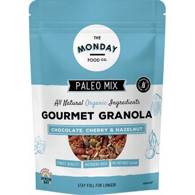 THE MONDAY FOOD CO. Paleo Granola Chocolate, Cherry & Hazelnut 800g