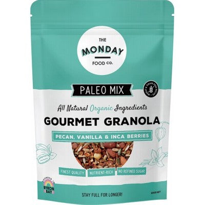 THE MONDAY FOOD CO. Paleo Granola Pecan & Vanilla Inca Berries 800g