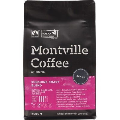 MONTVILLE COFFEE Sunshine Coast Beans - 250g