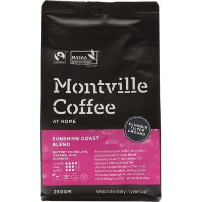 MONTVILLE COFFEE Sunshine Coast Plunger - 250g