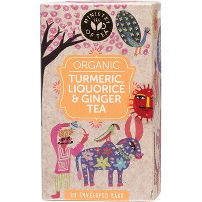 MINISTRY OF TEA Turmeric, Liquorice & Ginger Tea 20