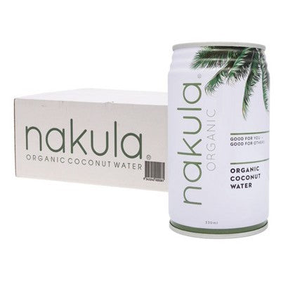 NAKULA Coconut Water - Carton of 12 x 330ml (Bellarine Delivery Only)