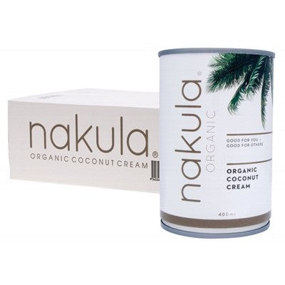 NAKULA Coconut Cream Carton of 12 x 400g (Bellarine Delivery Only)