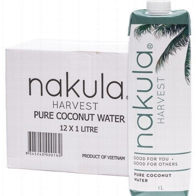 NAKULA Wild Harvest Coconut Water Carton of 12x1L (Bellarine Delivery Only)