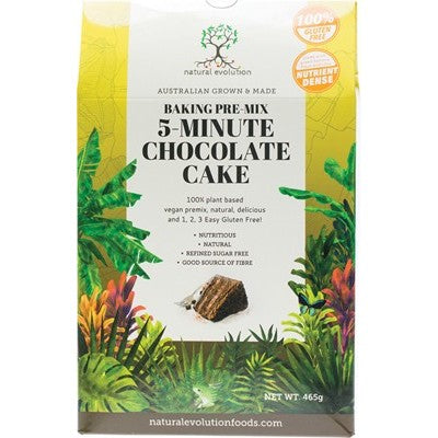 NATURAL EVOLUTION 5-Minute Chocolate Cake Mix 465g