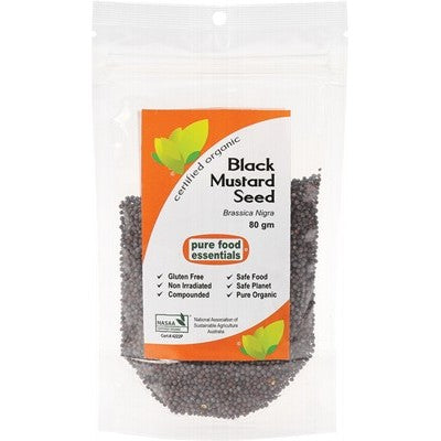 PURE FOOD ESSENTIALS Spices - Black Mustard Seed 80g