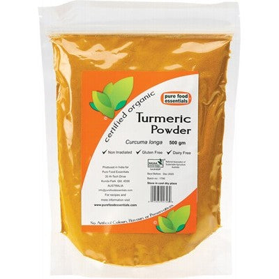 PURE FOOD ESSENTIALS Spices - Turmeric Powder 500g