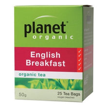Load image into Gallery viewer, PLANET ORGANIC - English Breakfast tea bags