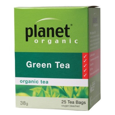 PLANET ORGANIC - Green Tea 25 & 50 tea bags & loose leaf