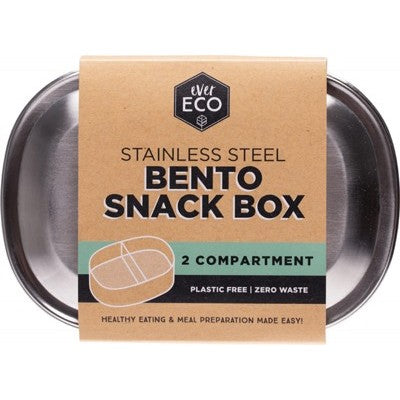 EVER ECO Stainless Steel Bento Snack Box 2 Compartments 580ml