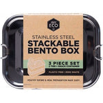 EVER ECO Stainless Steel Stackable Bento 2 Tier + Mini Snack Container 1500ml