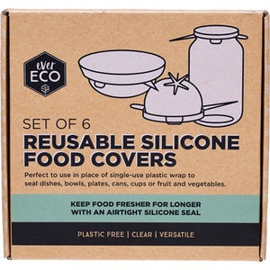 EVER ECO Reusable Silicone Food Covers - Set of 6
