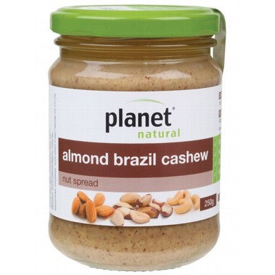 PLANET NATURAL - Almond Brazil Cashew Nut Spread 250g