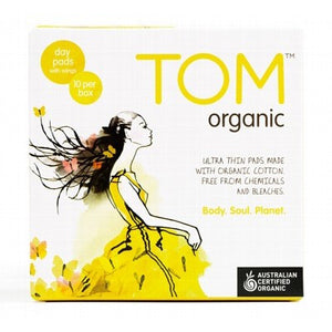 TOM ORGANIC - Pads Ultra Thin x 10 - BUY 5 GET 1 FREE