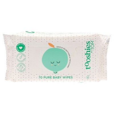 TOM ORGANIC Tooshies - Pure Baby Wipes X 70