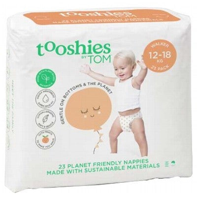 TOM ORGANIC Tooshies Nappies - 12-18 KG - Walker x 23
