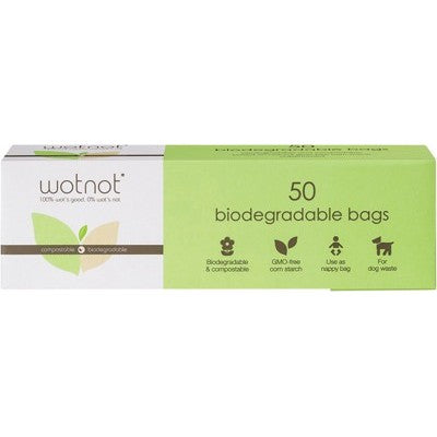 WOTNOT Nappy Bags 50 bags - 100% Biodegradable