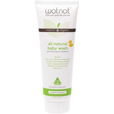 WOTNOT Baby Wash With Organic Sweet Orange Oil 250ml